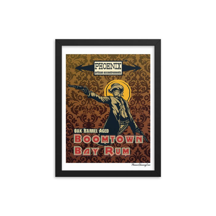 "Boomtown Bay Rum ""The Bad"" Framed Print - Phoenix Artisan Accoutrements"