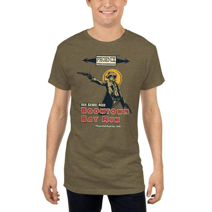 "Boomtown Bay Rum ""The Bad"" Long Body Urban T-Shirt - Phoenix Artisan Accoutrements"