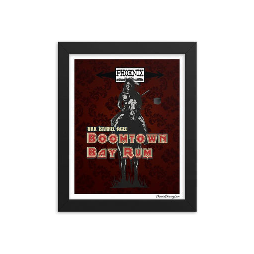 "Boomtown Bay Rum ""The Brave"" Framed Print - Phoenix Artisan Accoutrements"