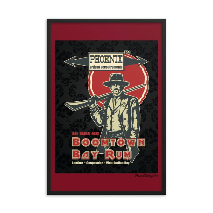 "Boomtown Bay Rum ""The Good""  Framed Print - Phoenix Artisan Accoutrements"