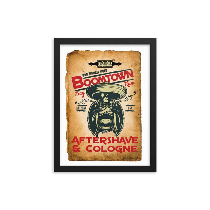 "Boomtown Bay Rum ""The Ugly"" Framed Print - Phoenix Artisan Accoutrements"