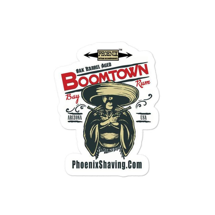 Boomtown Bay Rum Vinyl Sticker 4 | 3 Sizes! - Phoenix Artisan Accoutrements