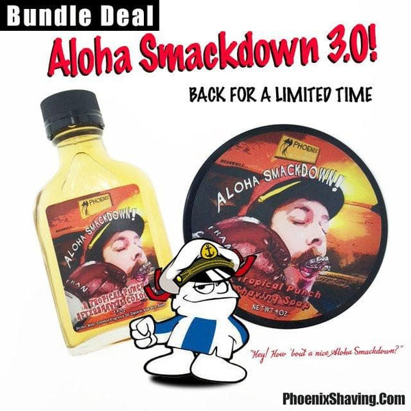 Bundles - Aloha SmackDown Shaving Soap & Aftershave Bundle Deal - Classic Hawaiian Punch - SEASONAL
