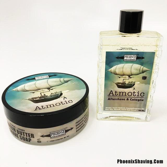 Atmotic Artisan Shave Soap & Aftershave/Cologne Bundle Deal - Distinct, Superb, Profound - Phoenix Artisan Accoutrements