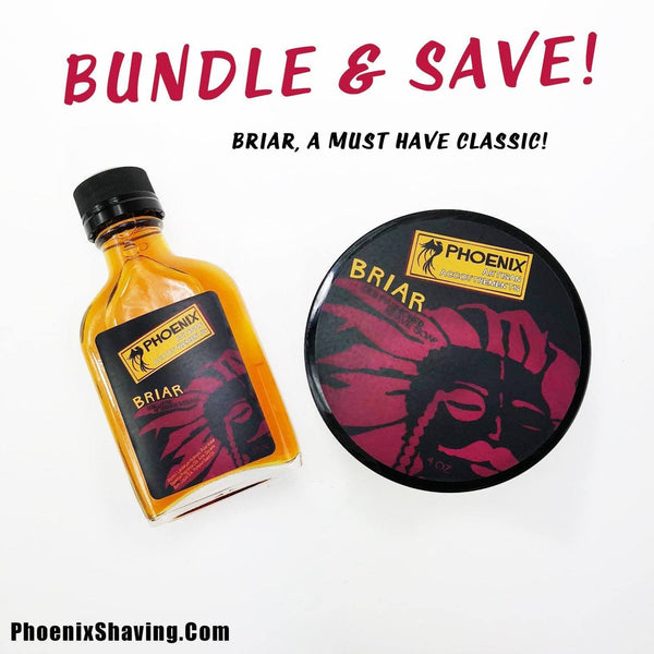 Briar Artisan Shave Soap & Aftershave/Cologne - Bundle Deal! - Phoenix Artisan Accoutrements