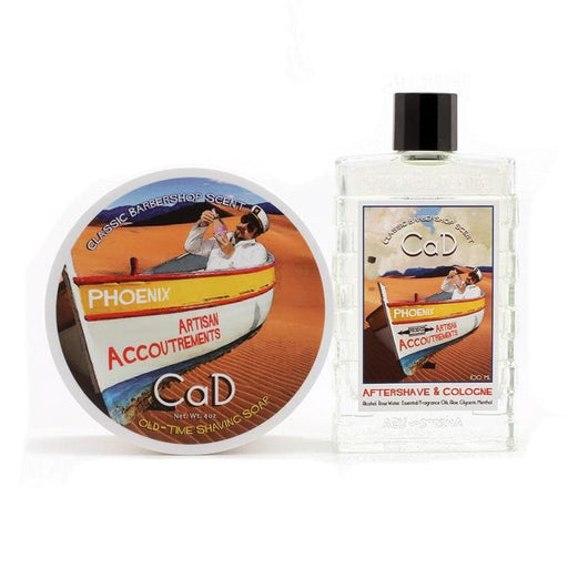 CaD Shaving Soap & Aftershave Cologne Bundle Deal - A Phoenix Shaving Classic! - Phoenix Artisan Accoutrements