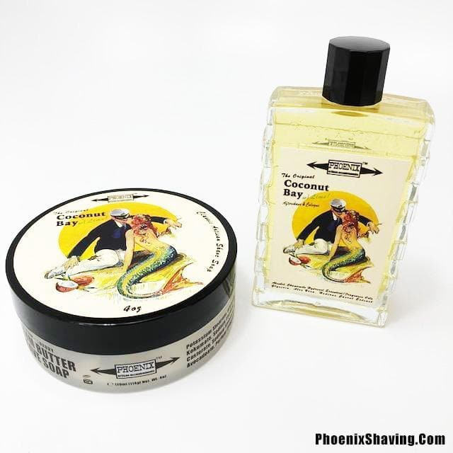 Coconut Bay w/ Lime Artisan Shave Soap & Aftershave - Bundle Deal - Phoenix Artisan Accoutrements