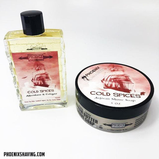 Cold Spices Artisan Shave Soap & Aftershave Cologne Bundle Deal! - Mentholated - Phoenix Artisan Accoutrements
