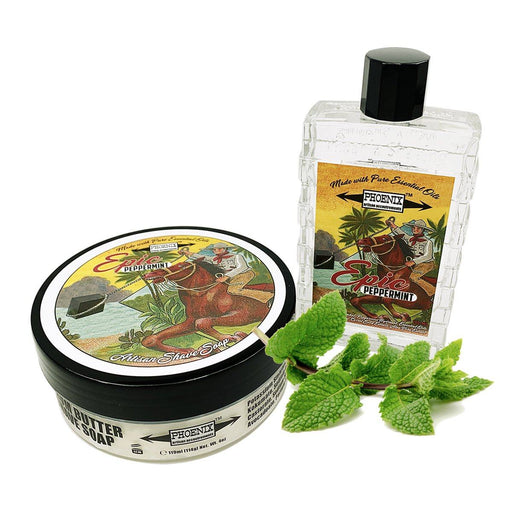 Epic Peppermint Artisan Shave Soap & Aftershave Cologne | Bundle Deal | Original Formula - Phoenix Artisan Accoutrements