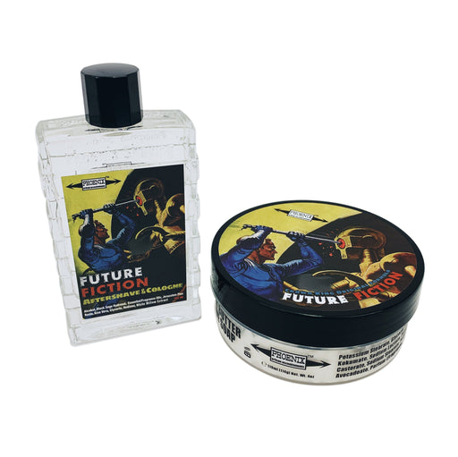Future Fiction Shaving Soap & Aftershave Cologne Bundles Deal | Crown King Original Formula - Phoenix Artisan Accoutrements