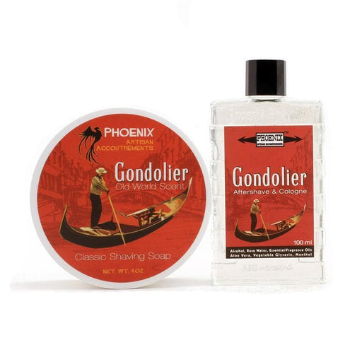 Gondolier Artisan Shaving Soap & Aftershave Cologne - Bundle Deal! - Phoenix Artisan Accoutrements