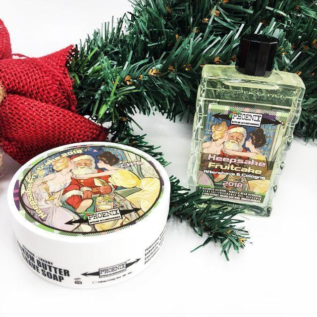 Keepsake Fruitcake 2018 Artisan Shave Soap & Aftershave/Cologne | Epic Gourmand - 4 Oz Seasonal Release! - Phoenix Artisan Accoutrements