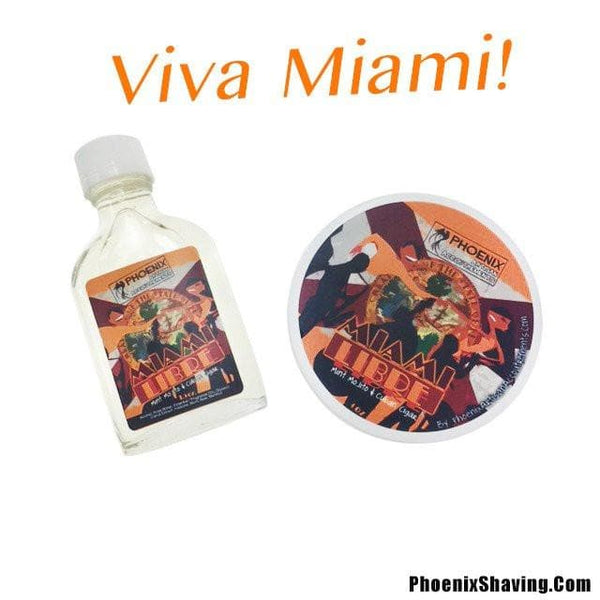 Miami Libre Artisan Shave Soap & Aftershave Bundle Deal- Mint Mojito & Cigar - Phoenix Artisan Accoutrements