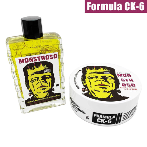 Monstroso Artisan Shaving Soap & Aftershave Bundle Deal - Ultra Premium CK-6 Formula - 5 Oz - Phoenix Artisan Accoutrements