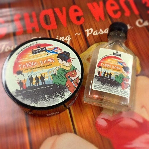 Official Big Shave West 3 Aftershave & Shave Soap Bundle Deal - Tokyo Rose - Phoenix Artisan Accoutrements