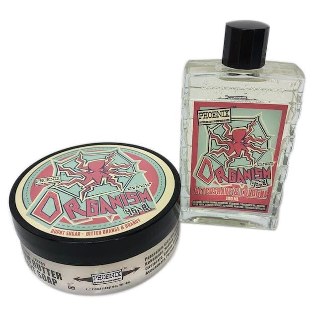Organism 46b Epic Artisan Shave Soap & Aftershave/Cologne - Bundle Deal - Phoenix Artisan Accoutrements