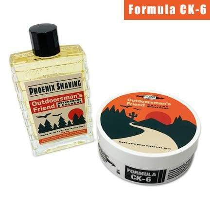 Outdoorsman's Friend Artisan Shave Soap & Aftershave/Cologne Bundle Deal | Ultra Premium Formula CK-6 | 5 oz - Phoenix Artisan Accoutrements