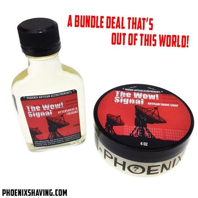 The Wow Signal 2020 Aftershave/Cologne & Artisan Shave Soap | Ultra Premium Formula CK-6 | 5 Oz - Phoenix Artisan Accoutrements