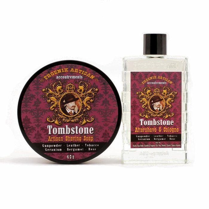 Tombstone Artisan Shaving Soap & Aftershave Cologne - Bundle Deal! - Phoenix Artisan Accoutrements