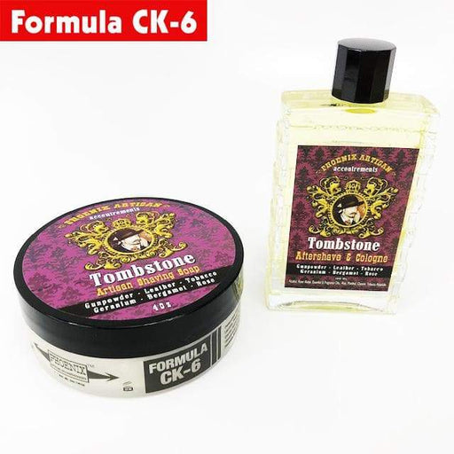 Tombstone Artisan Shaving Soap & Aftershave Cologne | Ultra Premium Formula CK-6 | 5 Oz - Phoenix Artisan Accoutrements