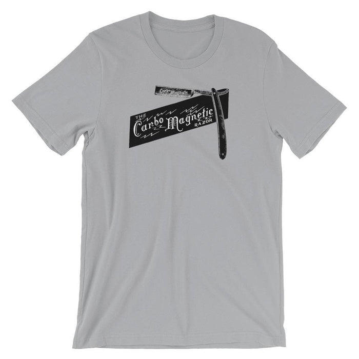 Carbo Magnetic Straight Razor 1906 Ad Short-Sleeve Unisex T-Shirt - Phoenix Artisan Accoutrements