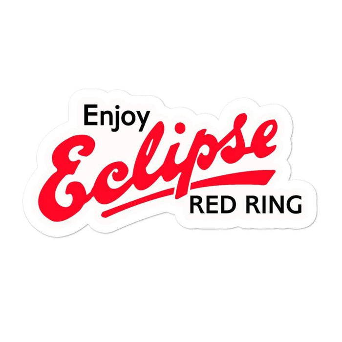 Classic Eclipse Red Ring Vinyl Sticker | 3 Sizes - Phoenix Artisan Accoutrements