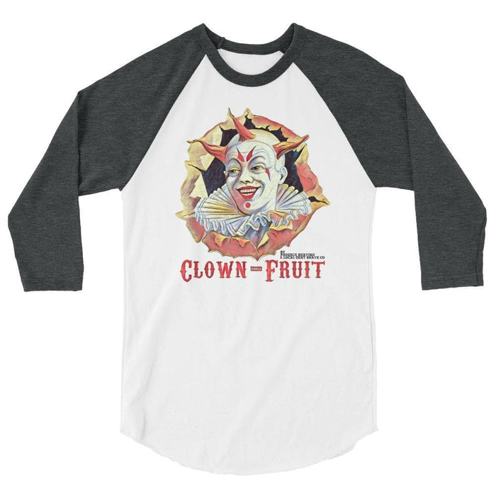 Clown Fruit 3/4 sleeve raglan shirt - A PAA Classic! - Phoenix Artisan Accoutrements