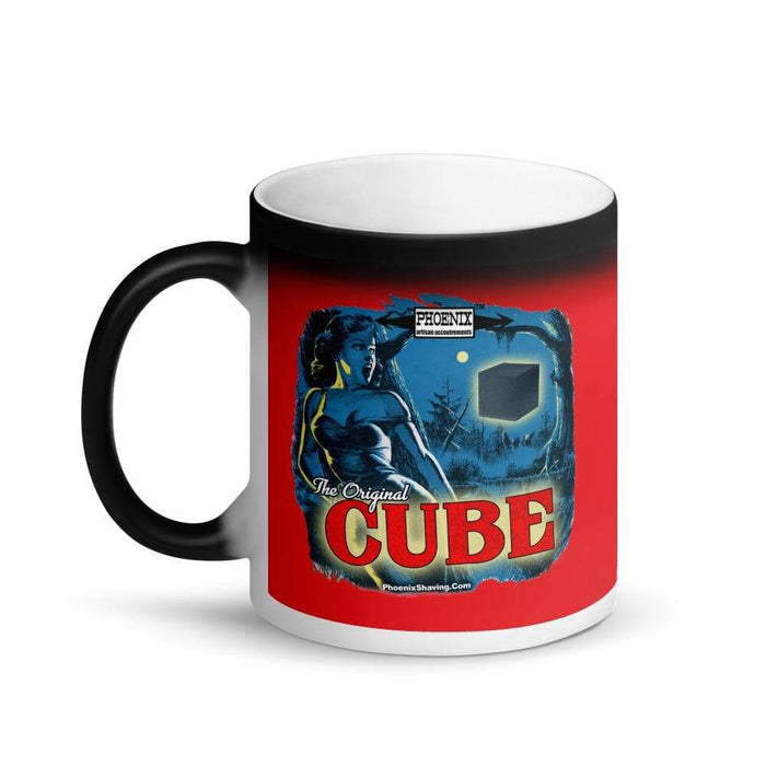 CUBE Matte Black Magic Coffee Mug - Phoenix Artisan Accoutrements