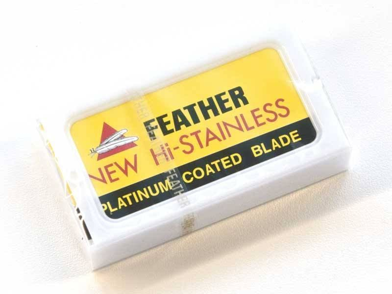 10 Feather New Hi-Stainless DE Blades