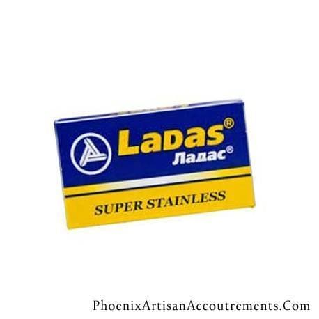 10 Ladas Super Stainless DE Blade, 2 Packs Of 5 (10 Blades) - Phoenix Artisan Accoutrements