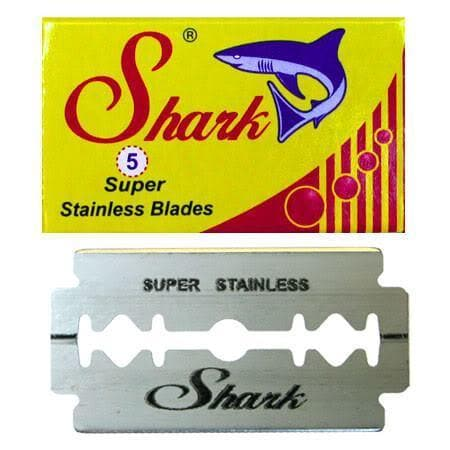 10 Shark Super Stainless DE Blade, 2 packs of 5 (10 blades)