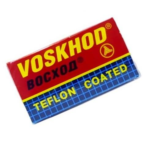 10 Voskhod Teflon Coated DE Blades, 2 packs of 5 (10 blades)