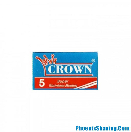 CROWN Super Stainless Double Edge Safety Razor Blades - 5 Pack - Phoenix Artisan Accoutrements
