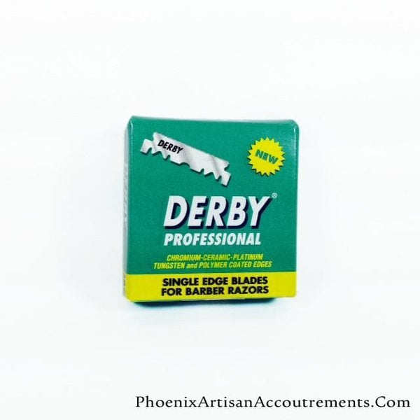 Derby Professional Single Edge Blades (for Shavette) , 100 Blades - Phoenix Artisan Accoutrements