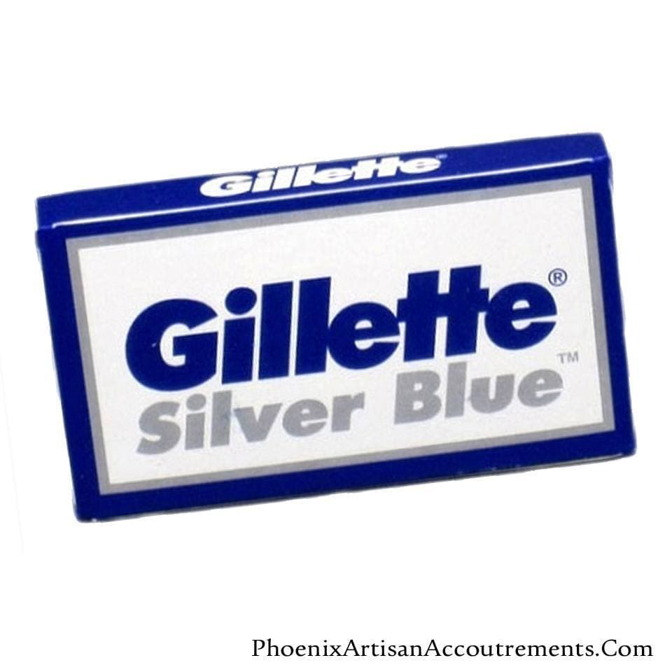Gillette Silver Blue Double Edge Razor Blades - 5 Pack