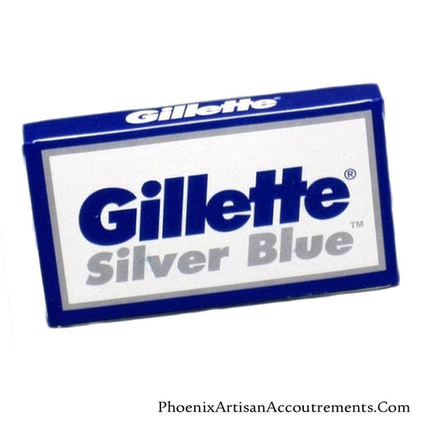 Gillette Silver Blue Double Edge Razor Blades - 5 Pack - Phoenix Artisan Accoutrements