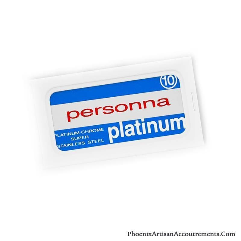Personna Platinum Chrome Double Edge Safety Razor Blades - 10 Pack
