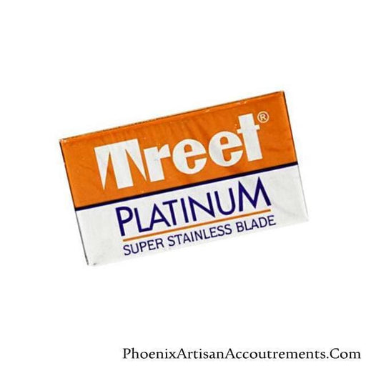 Treet Platinum Super Stainless Double Edge Razor Blades - 10 pack - Phoenix Artisan Accoutrements