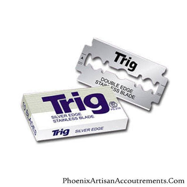 Trig Silver Edge Stainless Steel Double Edge Razor Blades - 10 Blade Pack - Phoenix Artisan Accoutrements