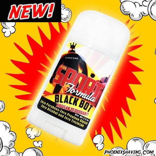Black Bot Natural Artisan Deodorant - New Sport Strength Formula - Phoenix Artisan Accoutrements
