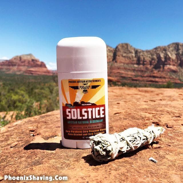 Solstice Natural Deodorant - New Sport Strength Formula - The Soul of the Desert - Phoenix Artisan Accoutrements