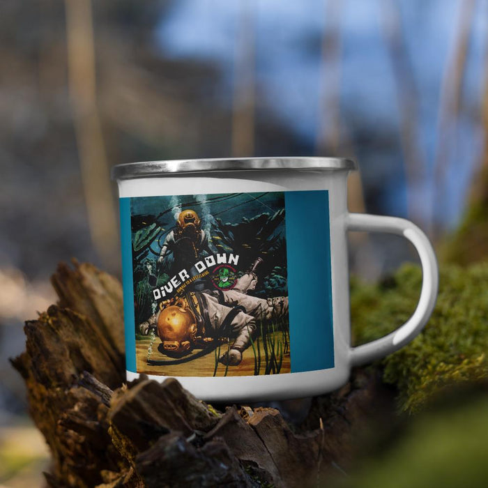 Diver Down Homage to a Spiced Classic Campers Enamel Coffee Mug - Phoenix Artisan Accoutrements