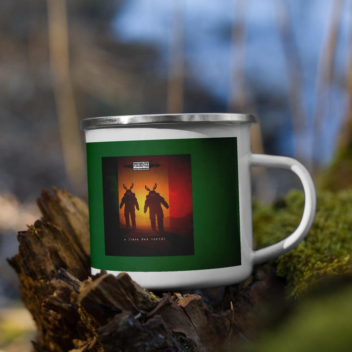 Doppelgänger (Irisch Moos Homage) Classic Enamel Camper's Coffee Mug - Phoenix Artisan Accoutrements