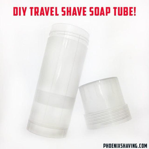 Do-It-Yourself Travel Shave Soap Tube - 2.5 Oz - Phoenix Artisan Accoutrements