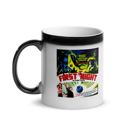 First Night On Planet Earth Glossy Magic Coffee Mug - Phoenix Artisan Accoutrements