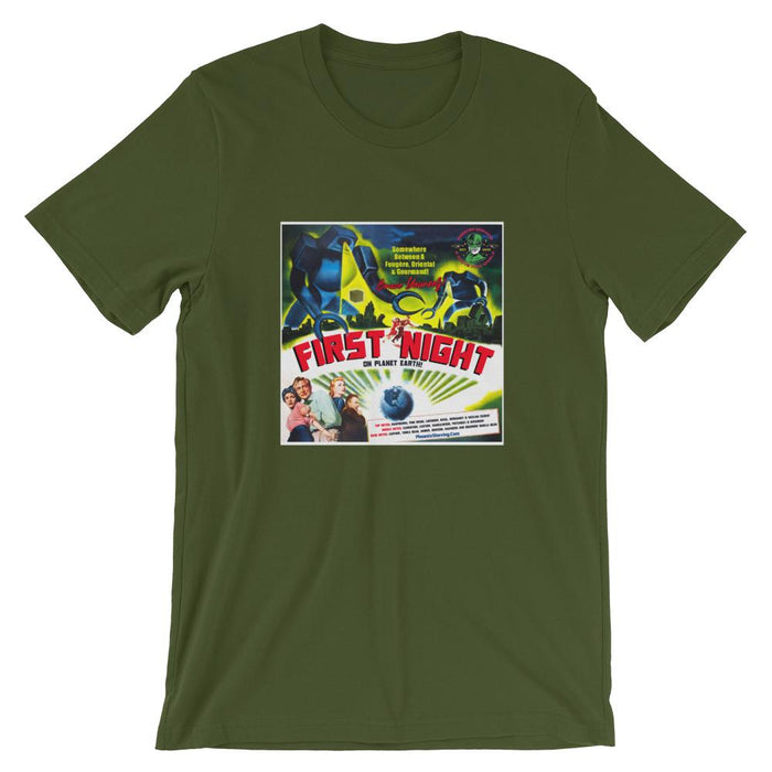 First Night On Planet Earth Short-Sleeve Unisex T-Shirt - Phoenix Artisan Accoutrements