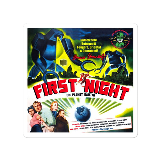 First Night On Planet Earth Vinyl Bubble-Free Stickers - Phoenix Artisan Accoutrements