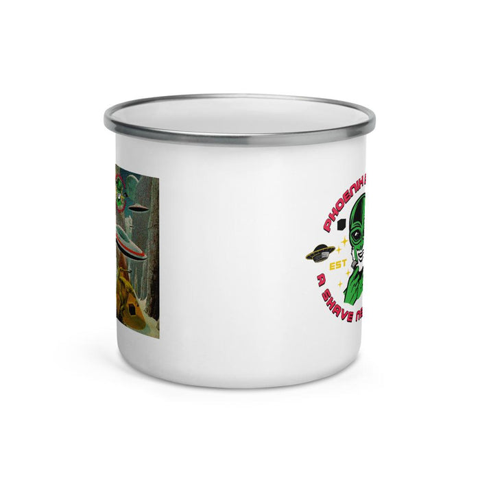 Frost Byte Classic Camper's Enamel Coffee Mug - Phoenix Artisan Accoutrements