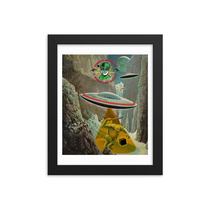 Frost Byte Framed Print - Phoenix Artisan Accoutrements
