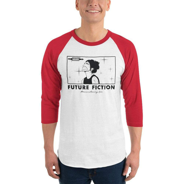 Future Fiction 3/4 sleeve raglan shirt - Phoenix Artisan Accoutrements
